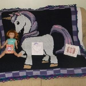 unicorn afghan