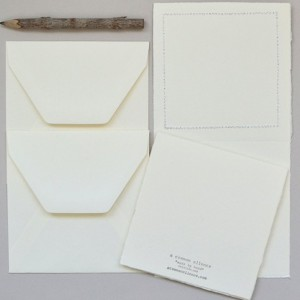 Handmade cards -- two fabric quilt cards