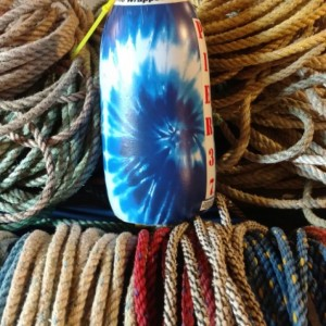 Blue tie dye! A  real Maine lobster buoy!