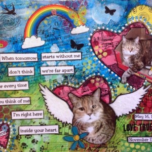 Custom Pet Loss Mixed Media Canvas Art