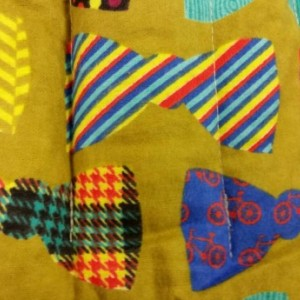 Colorful bow ties corn bag.
