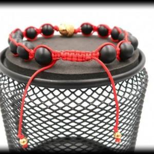 Matte Black Onyx Macrame Buddha Bracelet