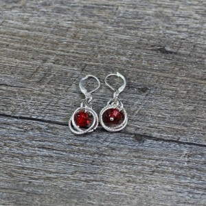 Red Dangle Chainamille Earrings