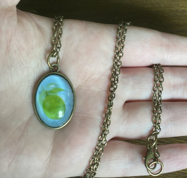Lime Pendant Necklace