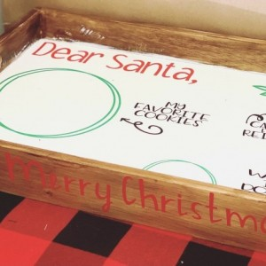 Personalized Santa Tray & Milk Glass