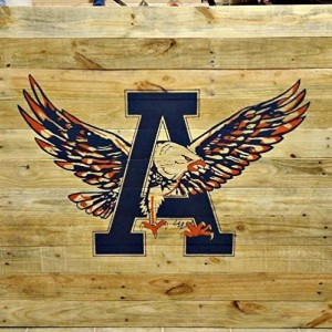 Large Rustic Handmade Auburn University War Eagle Reclaimed Wooden Pallet Sign