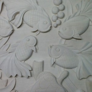Butterfly Koi on Basswood