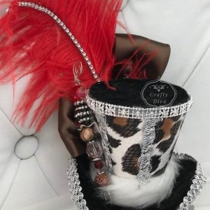 Leopard Mini Top Hat, Bachelorette, Steampunk, Fascinator, Gothic Lolita, Mad Hatter Headband