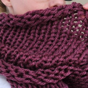 SALE - Infinity Scarf No. 3 in Plum - Circle Scarf - Purple Scarf - Chunky Cowl Scarf - Hooded Scarf - Ready to Ship