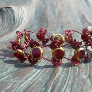 Red Spiral bracelet