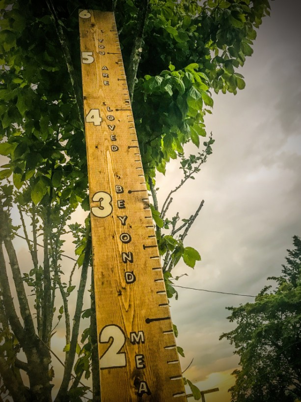 "6ft  Children's Wooden Growth Ruler-""You are loved beyond measure"""