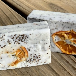 Orange & Chia Seed Goat's Milk Soap