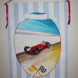 CLEARANCE SALE- Personalized Children's Wall Art - Race Car baby gift