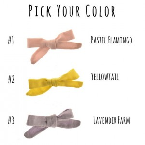 SET OF FOUR, The Dainty Bow, Hand-tied Bow, Fabric Hair Bow, Pigtail Bow, Mini Hair Bow, Baby Headband, Baby Girl Headband, Bow Headband,Pick Your Colors