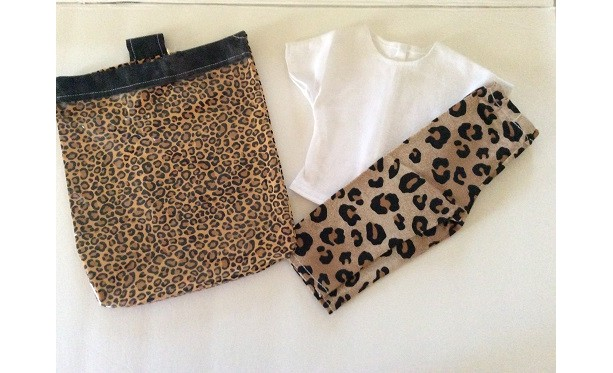 Tan Leopard Leggings with Tee Top (2 Pieces)