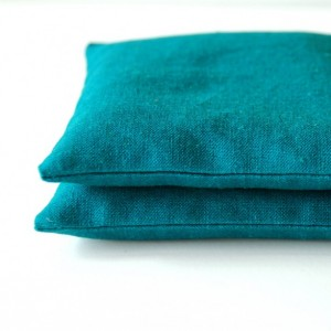 Teal Linen Organic Lavender Sachets Modern Herbal Pillows