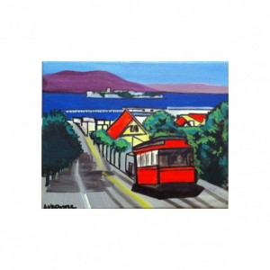 "San Francisco Cable Car #1 - 8""x10"" PRINT Signed By Artist A.V.Apostle"