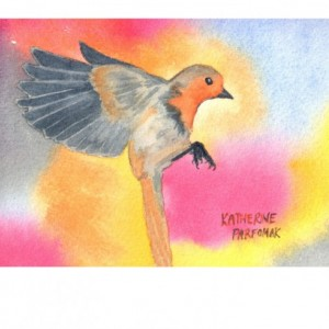 Flying Sparrow Print from Original Watercolor, 8x10