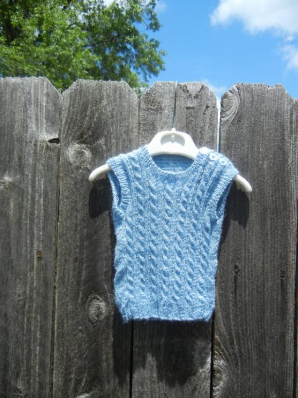 Hand Knit Vest Newborn Alpaca Vest Aftcra