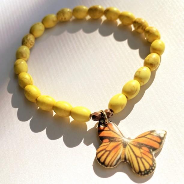 Yellow Butterfly Bracelet
