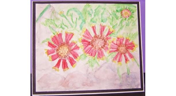 Daisies, Watercolor Card