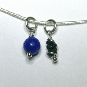 Personalized September Birthstone Necklace - Sapphire and Sterling Silver