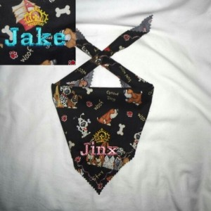 Woof Themed Personalized Dog Bandana