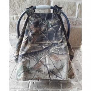 Camo Carseat Canopy with Peephole