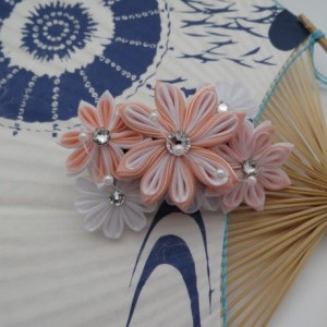 Peach Silk Kanzashi