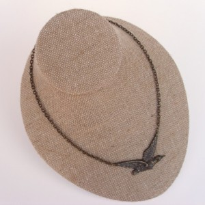 Antique Bronze Bird Necklace