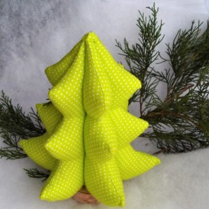Fabric Christmas tree, Modern Tree, Lime green tree, soft sculpture christmas tree, Christmas decor, Gift