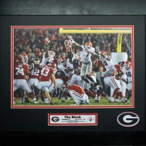 Georgia Bulldogs vs Oklahoma 2018 Rose Bowl Champions The Block Custom Framed Picture