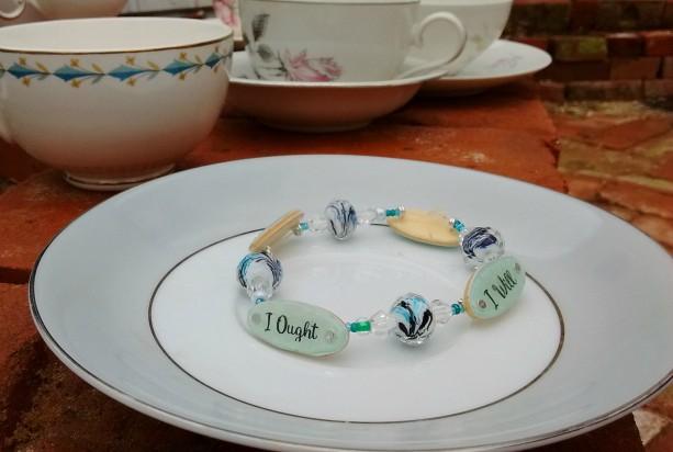 Charlotte Mason Motto Bracelet, Blue