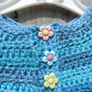 Swing Set Cardigan, Crochet Sweater, Blue Crochet Cardigan, Sweater for Toddler 9-12 Months, Ready to Ship