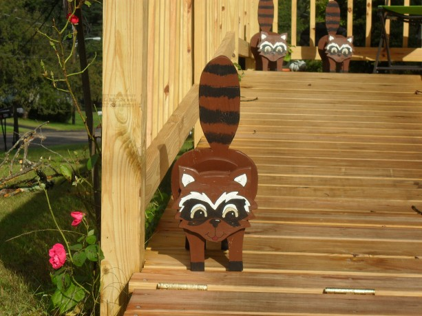 """Rocket"" Raccoon planter box"