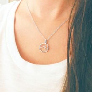 Mini Wave Necklace - Gold