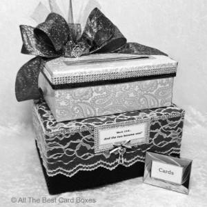 wedding card box,black white wedding,black white wedding invitations,black white wedding bouquet,black white wedding decor,card box slot