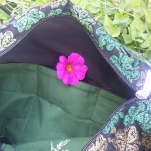Lucky Me Applique Shamrock Large Bag Ooak