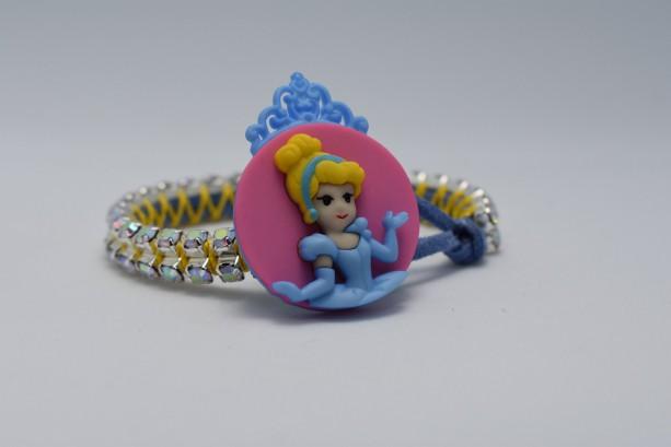 Cinderella Sparkly Suede Bracelet Kids or Adult