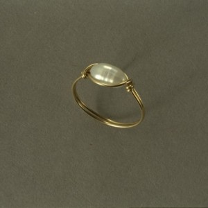 14 K Goldfilled Freshwater Pearl Ring Size 6