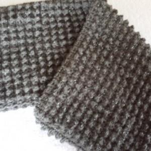 Outlander Scarf - Infinity Cowl Scarf, Sassenach,Chunky Scarf, Crochet Gray Scarf, Bubble Stitch, Unisex Neckwarmer Scarf, Handmade Scarf