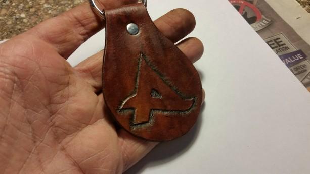 Handtooled Afrojack Keychain Fob
