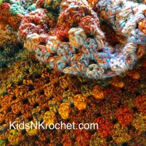 Throw Afghan / heavenly fall colors / earth tones