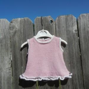Hand Knit Alpaca Dress, Newborn Knitted Dress, Alpaca Pink Dress, Newborn Girl Dress, Alpaca Dress for Newborn, All Handmade, Ready to Ship