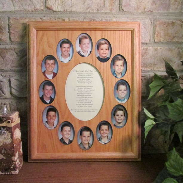 School Years Collage Picture Frame K 12 Graduation Oval