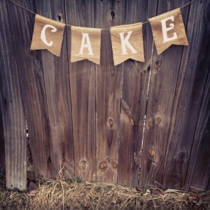 Burlap 'Cake' Banner