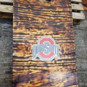 Cornhole with bean bags Custom built and hand painted with your design (regulation size)