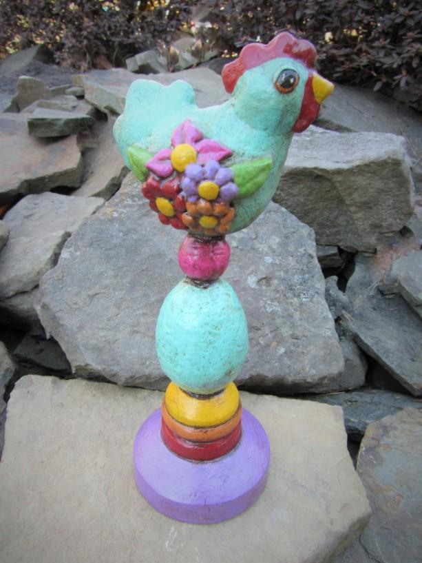 paper mache chicken sculpture spring chicken