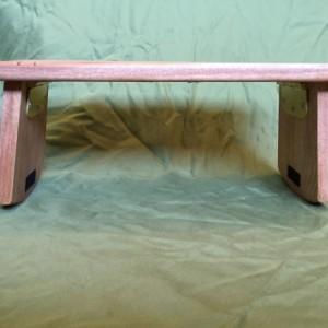 Handmade Meditation bench - Mahogany with folding legs *FREE SHIPPING*