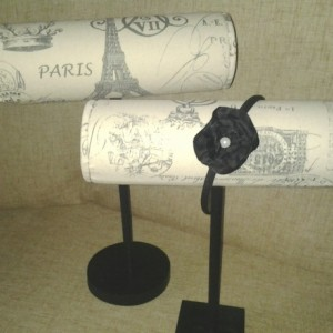 Paris Boutique Headband or bracelet display Craft show designs, room decor, photo prop, booth displays, holder.